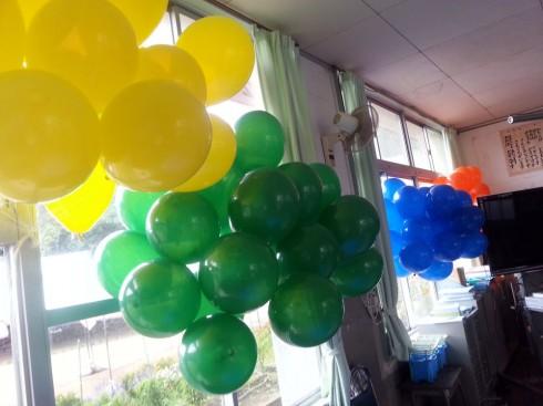 教室で待機のバルーン