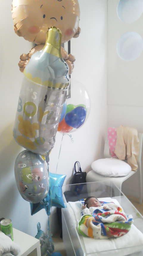出産祝いバルーン画像