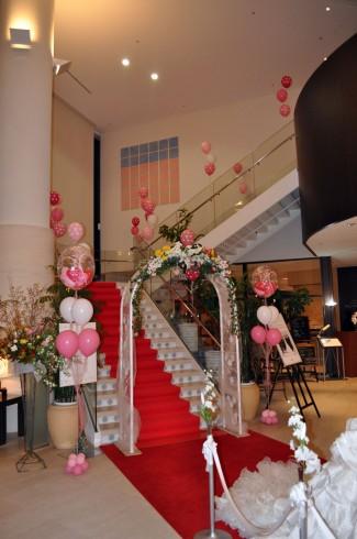 マリンパレスブライダルフェア階段