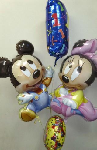 ミッキー&ミニーの一歳誕生日