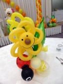 テントウムシとお花のバルーン