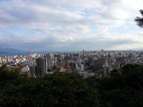 城山からの鹿児島市の景色