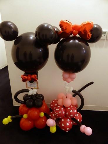 シルエットミッキー&ミニー