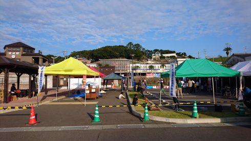 枕崎駅前広場