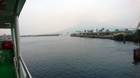 暑い夏の錦江湾