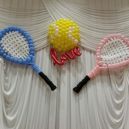 テニスラケットバルーンアート