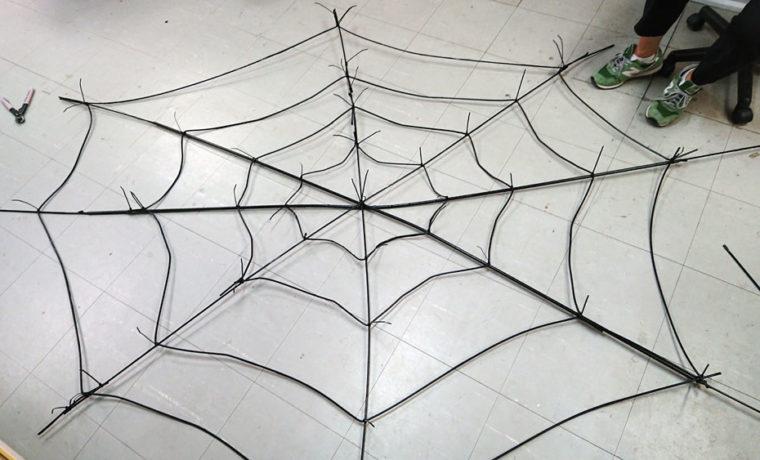 ハロウィンクモの巣