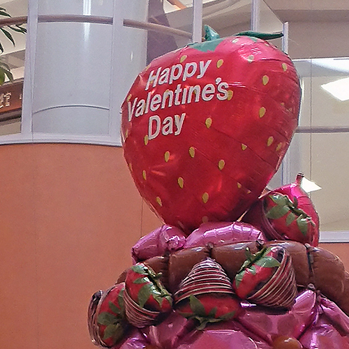 バレンタインデコレーション2019(イオンモール鹿児島)